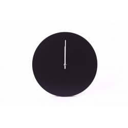 Kiekko wall clock black Muoto2