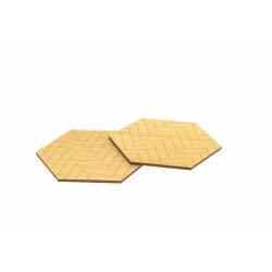 Fishbone puu-lasinaluset 4kpl