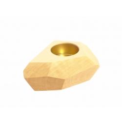 Puinen design tuikku Stone