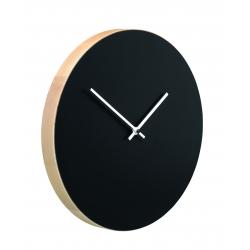Kiekko wall clock black Muoto2