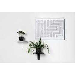 Turn Shelf Black and white