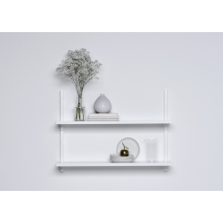 Sola Shelf white stacked on the wall