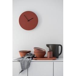 Kiekko wall clock brick Muoto2 styled