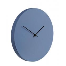Kiekko seinäkello suede neptunuksen sininen Muoto2